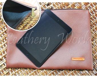 Handmade Brown Leather Massenger, Ipad mini, Handbag