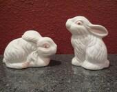 Vintage 1950's era Artmark ceramic rabbit salt and pepper shakers