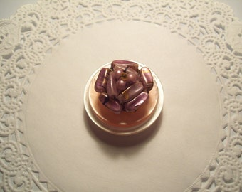 Vintage Jewelry Refrigerator Magnet (23) Pink and Mauve