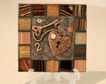 Heart /Decorative tile/ Ceramic tile /Table top /Home Decor