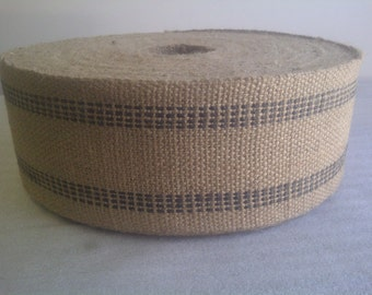 Jute Webbing Black - 10 Yards Bolt