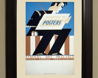 Exhibition of Posters WPA Poster - 3 sizes available, one price.