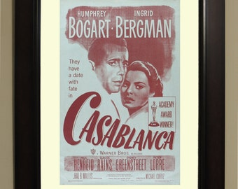 Casablanca Movie Poster - 3 sizes available, one low price.
