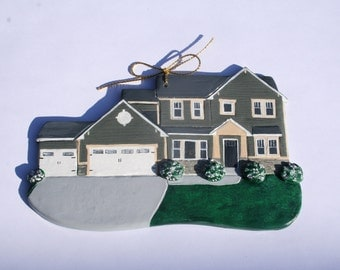 Custom made polymer clay house ornaments, these are examples of my work.