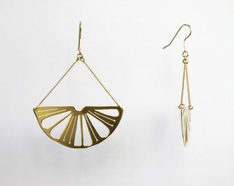 "Earrings ""Citron"" lemons gilded with gold 24 carat"