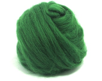 Forest (green) - Shetland Wool Top - Roving - Needle/Wet/Nuno Felting Wool - Spinning