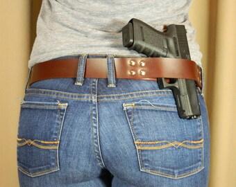 Carry Open Belt Holster - Brown
