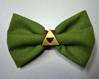 Zelda Hairbow with Gold Triforce