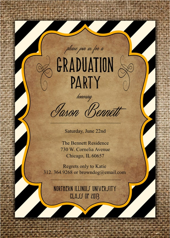 High School Graduation Party Invites is great invitation design