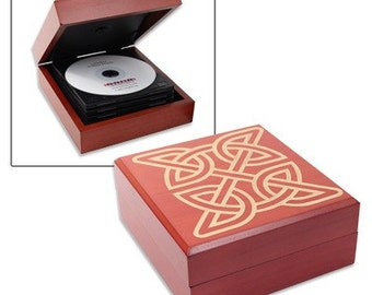 Laser Engraved Birch CD/DVD Case Personalized For you