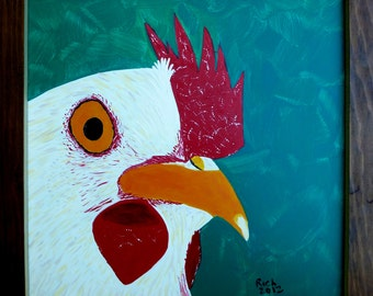 Rooster King - Original Painting