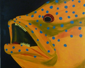 Angry Fish - original painting