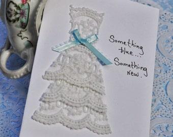 Wedding Greeting Card    Something Blue, Something New
