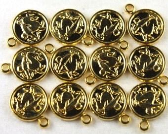 11x Vintage Gold Plated Sagittarius Charms - M029-B