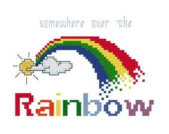 Somewhere over the Rainbow Cross Stitch Pattern