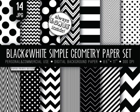 8 5 x 11 black white digital paper 8 5 x 11 print wedding - Papel de pared blanco y negro ...