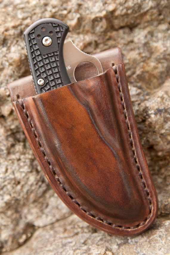 knives with sheaths custom hand made friction sheath with spyderco by