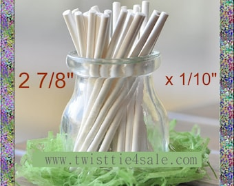 "100pcs 2 7/8"" x 1/10"" Paper  Lollipop Sticks for Cake Pops"