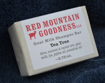 Tea Tree goat milk shampoo bar