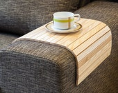 Sofa Tray Table natural, Wooden TV tray, Wooden Coffee Table, Lap Desk for small spaces