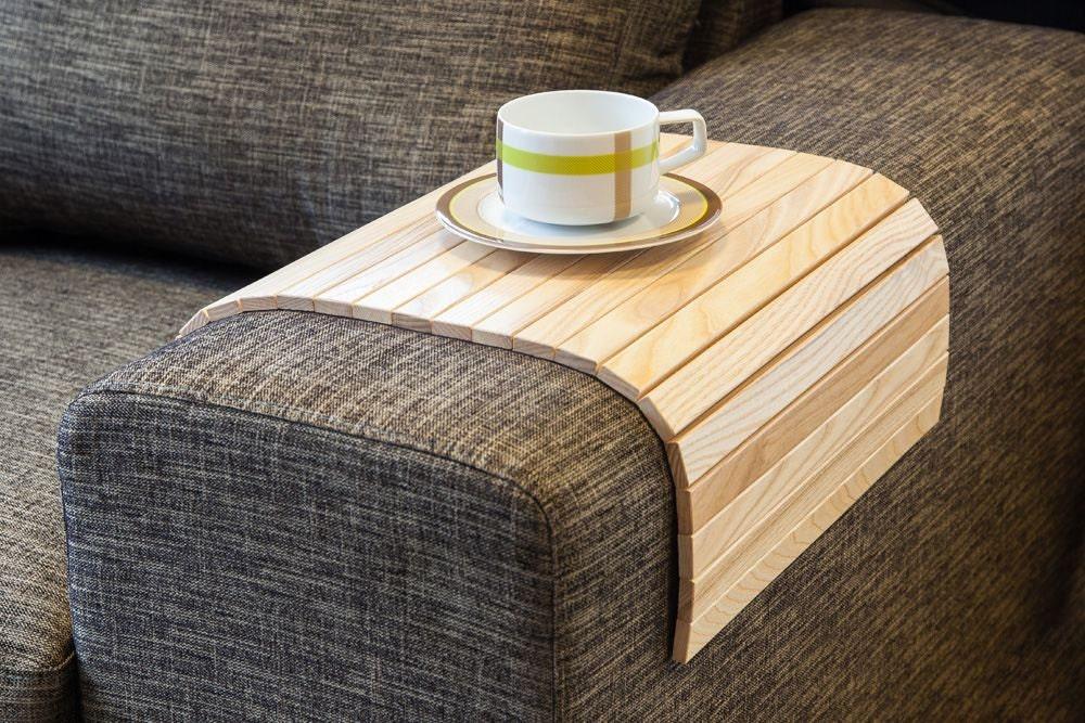 Sofa tray table natural wooden tv tray wooden coffee table for Useful tv tray coffee table