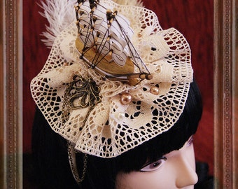 Ship Fascinator (Marie Antoinette, Rococo, Baroque, Headdress)