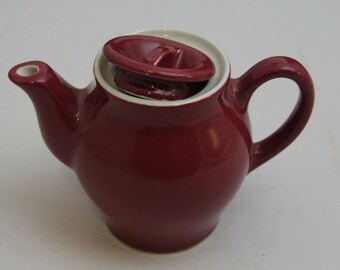 Hall China 2454-1/2 11oz Maroon Teapot 11oz.