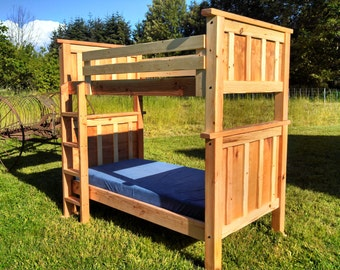 Back to the Beach Twin/Twin Bunk Bed - Fir/Birch, solid wood, all natural finish, heirloom quality, stackable, built for lifetime use