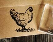 Chicken Stamp - Southern Rubber Stamp - Chicken Rubber Stamp