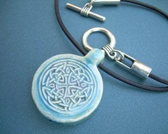 Leather Necklace, Celtic Knot Pendant , Mens Necklace, Womens Necklace, Womens Jewelry, Mens Jewelry, Celtic