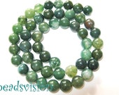 Moss Agate 8 mm 1 strand balls Green Agate Round