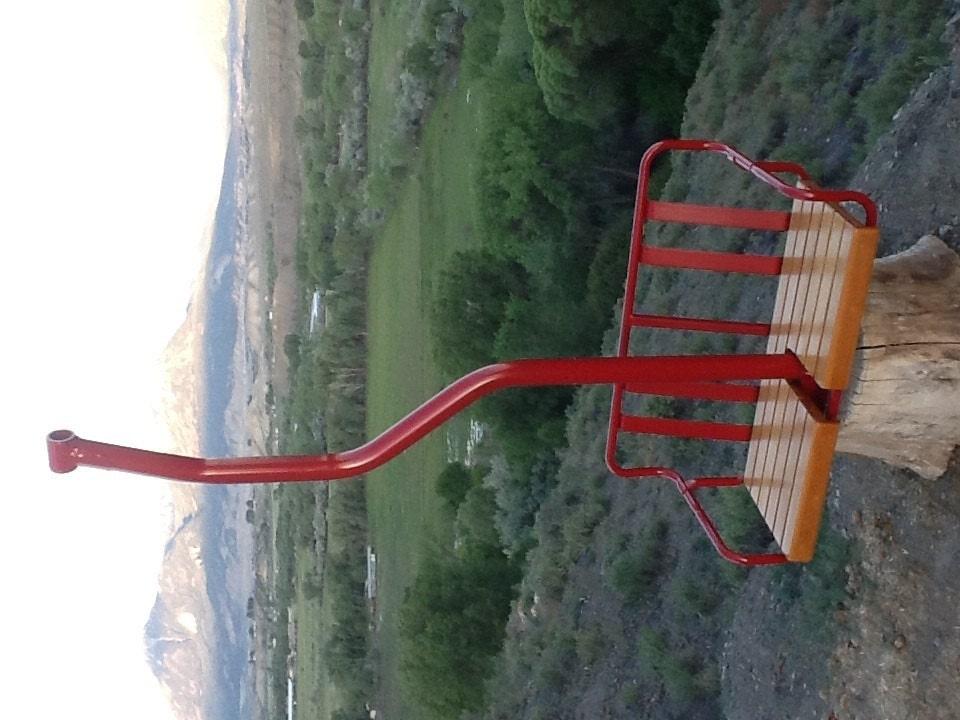 Vintage Ski Chair Lift Swing Free Shipping