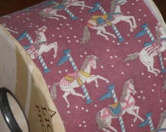 "Vintage Lion Ribbon Roll ""Carousel"" Horses 2 5/8""  Craft Florist Scrapbook"