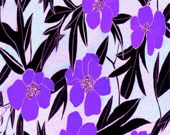 Violet Peony // Postcard Giclée Print // Illustration