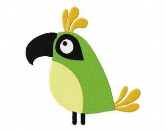 INSTANT DOWNLOAD Fun Time Bird Machine Embroidery Design