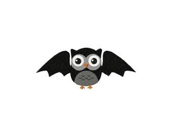 INSTANT DOWNLOAD Owl Vampire Bat Halloween Machine Embroidery Design