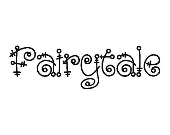 INSTANT DOWNLOAD Fairytale Machine Embroidery Font Set Includes 3 Sizes