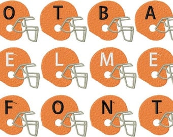 INSTANT DOWNLOAD Football Helmets Machine Embroidery Monogramming Font Set Includes 3 Sizes