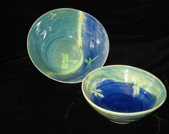 Dragonfly wave bowl