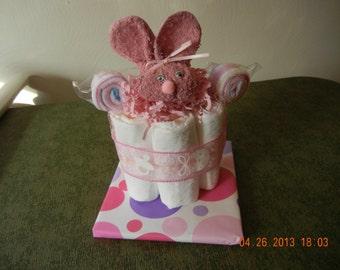 Mini Diaper Cake, Bumble Bee Diaper Cake, Boo Boo Bunny Mini Diaper Cake, Lollipop Mini Diaper Cake
