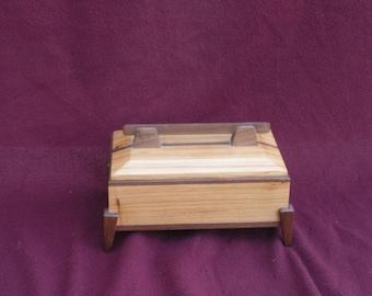 Pecan with walnut trim keepake box