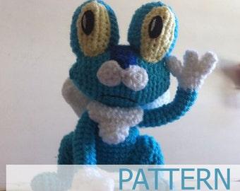 PDF CROCHET PATTERN Pokemon Froakie Frog Amigurumi