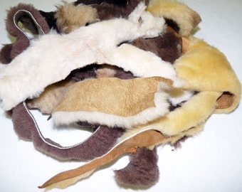 20 assorted real fur Pieces
