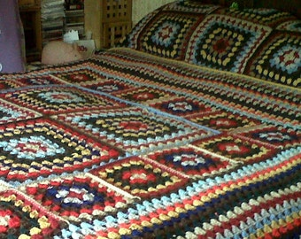 Heritage afghan, double bed size