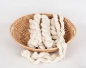 80% Pygora Goat Yarn Natural White  2 oz.