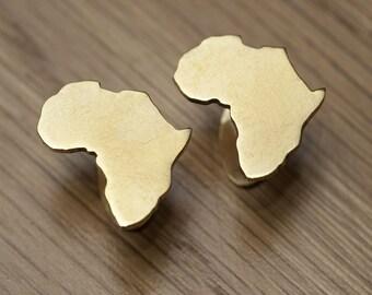 Brass Africa Cufflinks