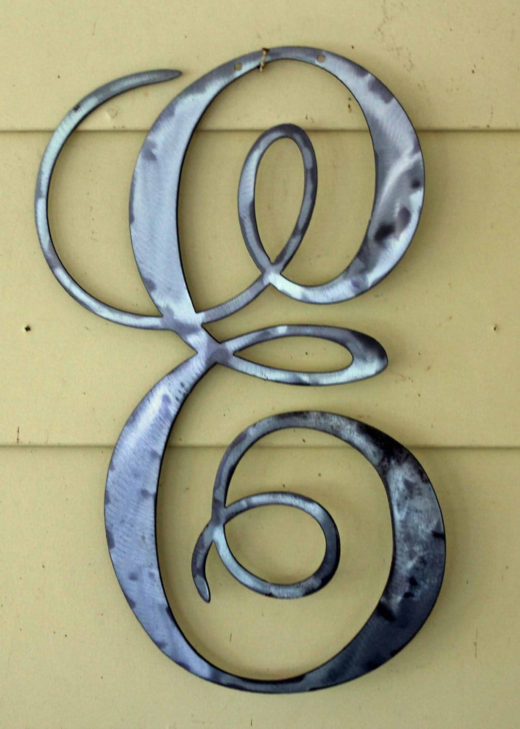 Metal Script Letters Polished Metal Script Letter E Door Or Wall Hanging