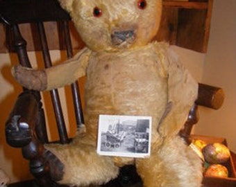 Vintage Bear 1950's Character Well Loved With Provenance