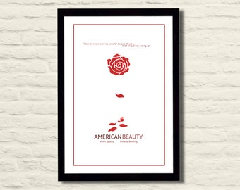 American Beauty Minimalist Movie Poster 11 X 17 Home Decor