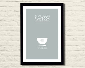 Silver Linings Playbook Movie Poster 11X17 Minimalist, Home Decor